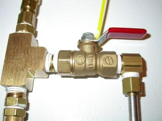Brand new pipe fixtures installed by professional Milwaukee plumbers from Andersen Plumbing.